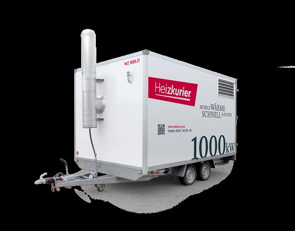 Mobile Heizzentrale 1000 kW